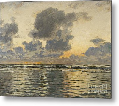 Evening At The Baltic Sea Metal Print by Celestial Images