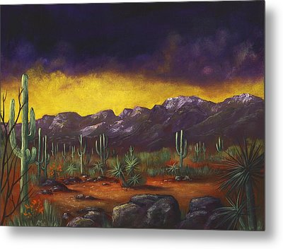 Evening Desert Metal Print by Anastasiya Malakhova