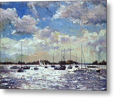 Evening Light - Gulf Of Morbihan Metal Print by Christopher Glanville