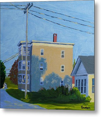 Evening Light Northern Avenue Metal Print by Laurie Breton