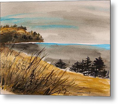 Evening On The Seacoast Metal Print by John  Williams