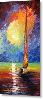 Evening Sail Metal Print by Ash Hussein