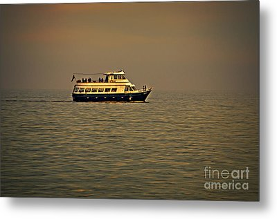 Evening Sail On Lake Michigan Metal Print by Mary Machare