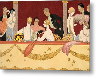 Eventails Metal Print by Georges Barbier
