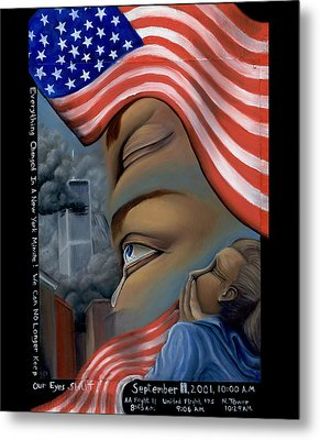 Everything Changes In A New York Minute Metal Print by Karen Musick