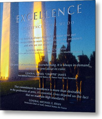 Excellence Metal Print by Mitch Cat