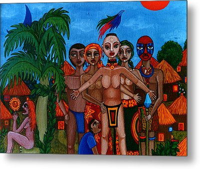 Exiled In Homeland Metal Print by Madalena Lobao-Tello
