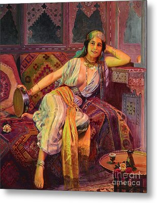 Exotic  Beauty Metal Print by Pg Reproductions