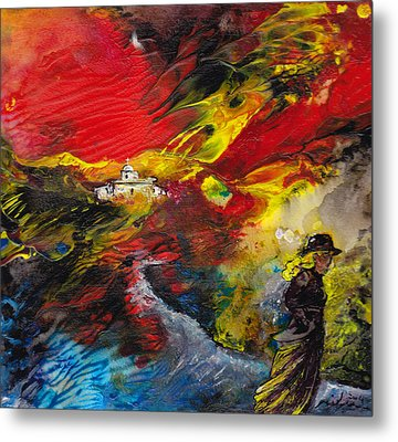 Expelled From The Land Metal Print by Miki De Goodaboom