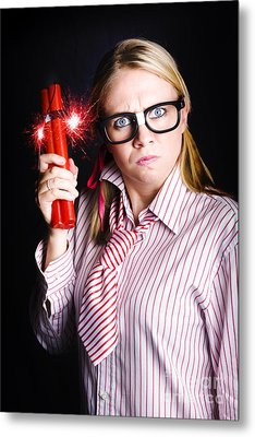 Explosive Nerd Erupts With Fury Metal Print by Jorgo Photography - Wall Art Gallery