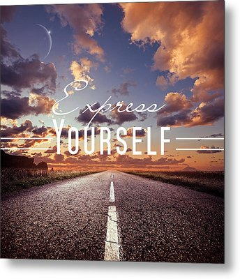 Express Yourself Metal Print by Mark Ashkenazi