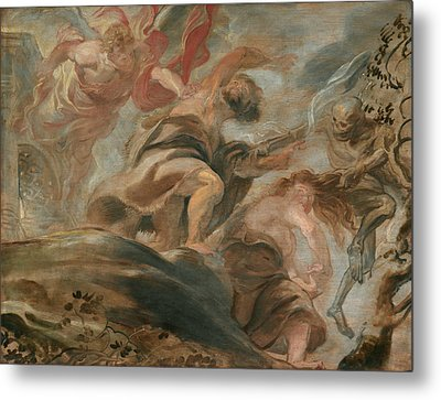 Expulsion From The Garden Of Eden Metal Print by Peter Paul Rubens