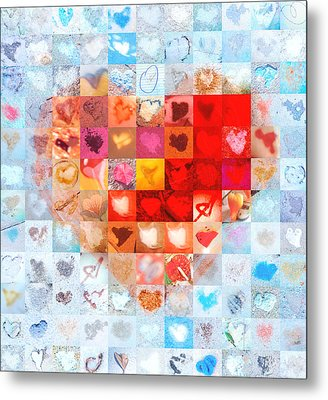 Extreme Makeover Home Edition Katrina's Heart Two Metal Print by Boy Sees Hearts