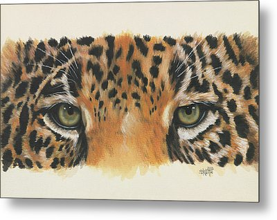 Eye-catching Jaguar Metal Print by Barbara Keith