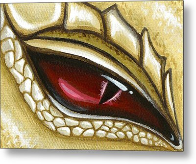 Eye Of Gold Dust Metal Print by Elaina  Wagner