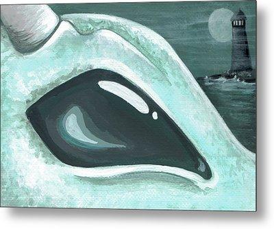 Eye Of The Coast Dragon Metal Print by Elaina  Wagner
