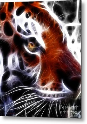 Eye Of The Tiger 2 Metal Print by Wingsdomain Art and Photography