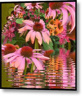 Eyecatching Cone Flowers Metal Print by Nancy Pauling