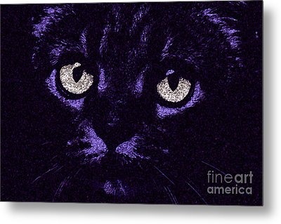 Eyes Straight To The Heart Metal Print by Andee Design