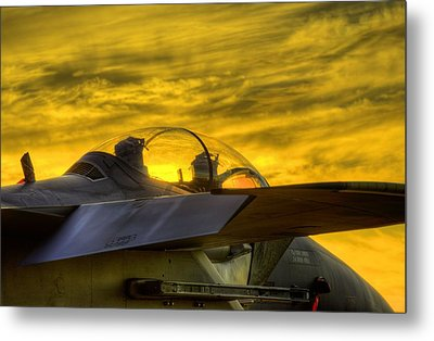 F-15e Sunset Metal Print by JC Findley