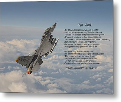F16 - High Flight Metal Print by Pat Speirs