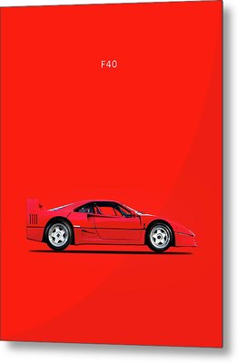 F40 Metal Print by Mark Rogan