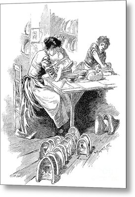 Face Mask Production, 19th Century Metal Print by Spl