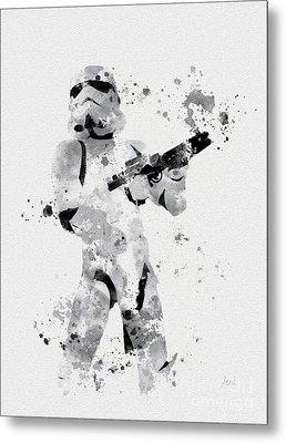 Faceless Enforcer Metal Print by Rebecca Jenkins