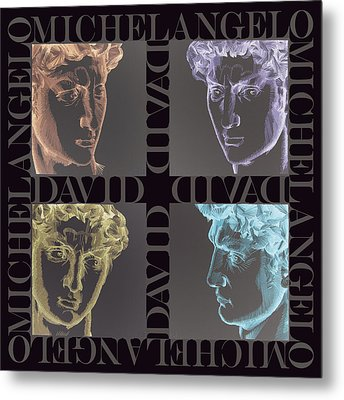 Faces Of David In Negative Metal Print by Barbara Lugge