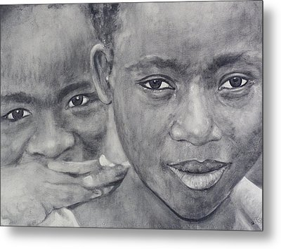 Faces Of Determination #2 Metal Print by Adrienne Martino