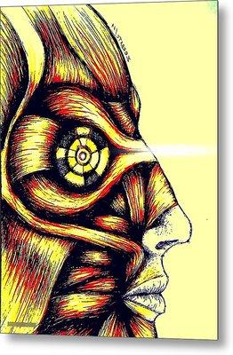 Facial Muscles Metal Print by Paulo Zerbato