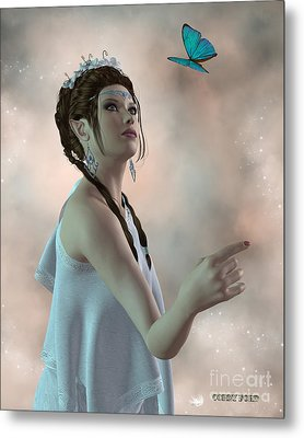 Fairy And Butterfly Metal Print by Corey Ford