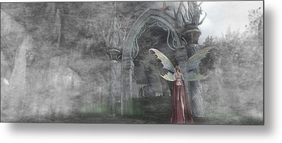Fairy Gate Metal Print by Brainwave Pictures