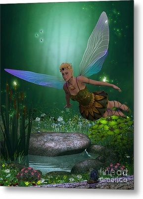 Fairy In Flight Metal Print by Corey Ford