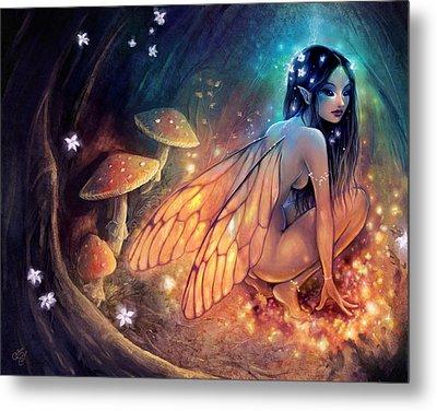 Fairydust Nest Metal Print by Caroline Jamhour