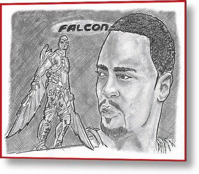 Falcon Metal Print by Chris DelVecchio