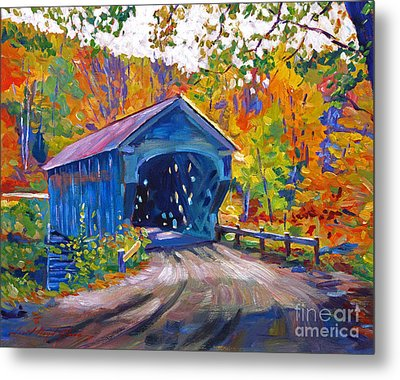 Fall Comes To Downer Vermont Metal Print by David Lloyd Glover