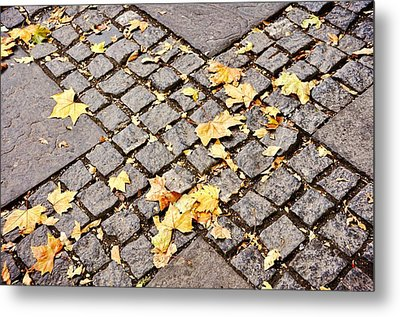 Fall Crossroads Metal Print by JAMART Photography