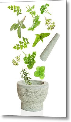 Falling Herbs Metal Print by Amanda And Christopher Elwell