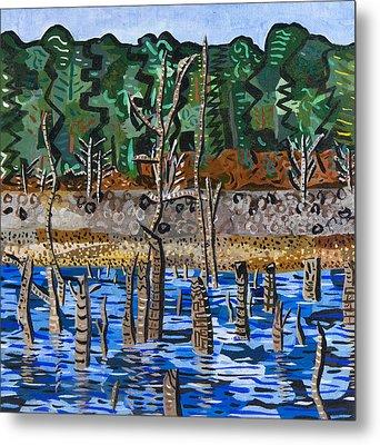 Falls Lake At Six Forks Road Metal Print by Micah Mullen