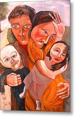 Family Struggle Metal Print by John Keaton