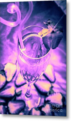 Fancy Champagne With Sliced Strawberries Metal Print by Jorgo Photography - Wall Art Gallery