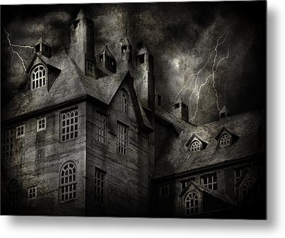 Fantasy - Haunted - It Was A Dark And Stormy Night Metal Print by Mike Savad