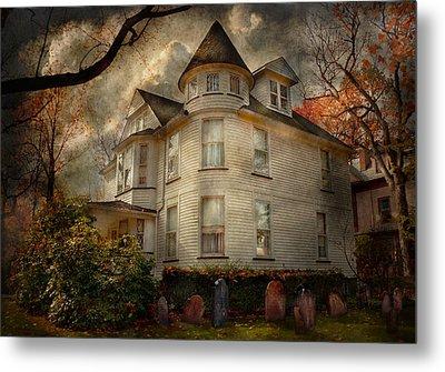 Fantasy - Haunted - The Caretakers House Metal Print by Mike Savad