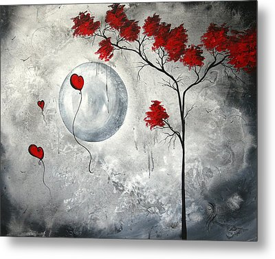 Far Side Of The Moon By Madart Metal Print by Megan Duncanson