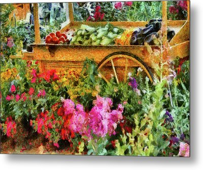 Farm - Food - At The Farmers Market Metal Print by Mike Savad
