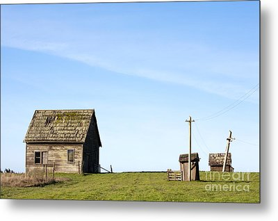 Farm House, Mendoncino, California Metal Print by Paul Edmondson