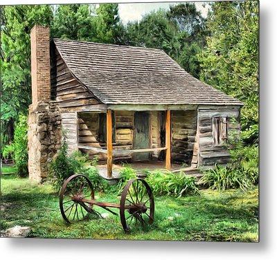 Farm House Metal Print by Steven Richardson
