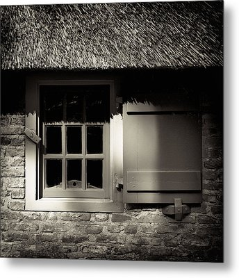 Farmhouse Window Metal Print by Dave Bowman
