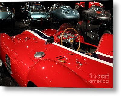 Farrari View Metal Print by Wingsdomain TransportationArt